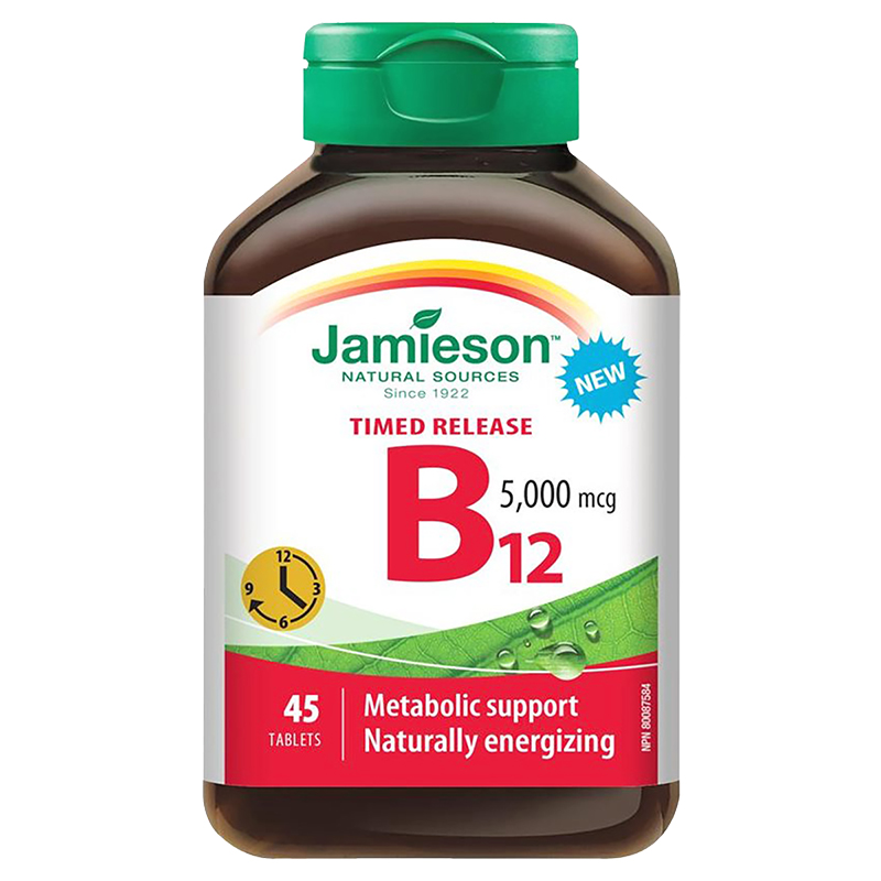 Jamieson Timed Release B12 - 5000 mcg - 45 Tablets