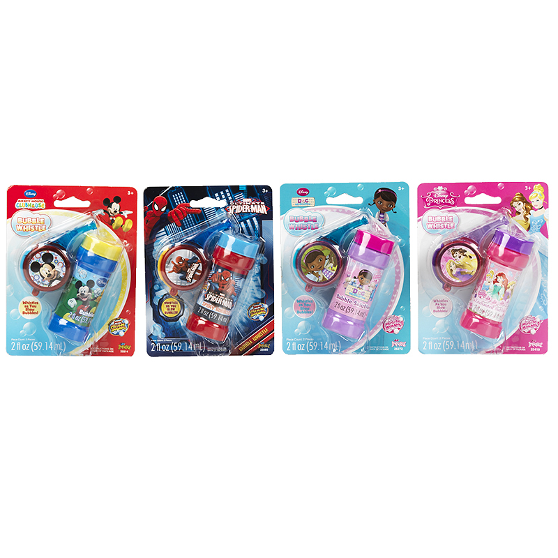 Licensed Bubble Whistles - Assorted