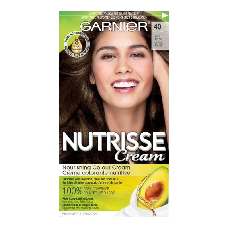 Garnier Nutrisse Cream Permanent Hair Colour 40 Dark Brown