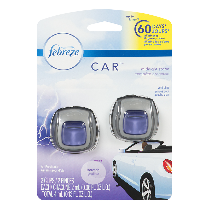 Febreze Car Air Freshener - Midnight Storm - 2 pack/4ml