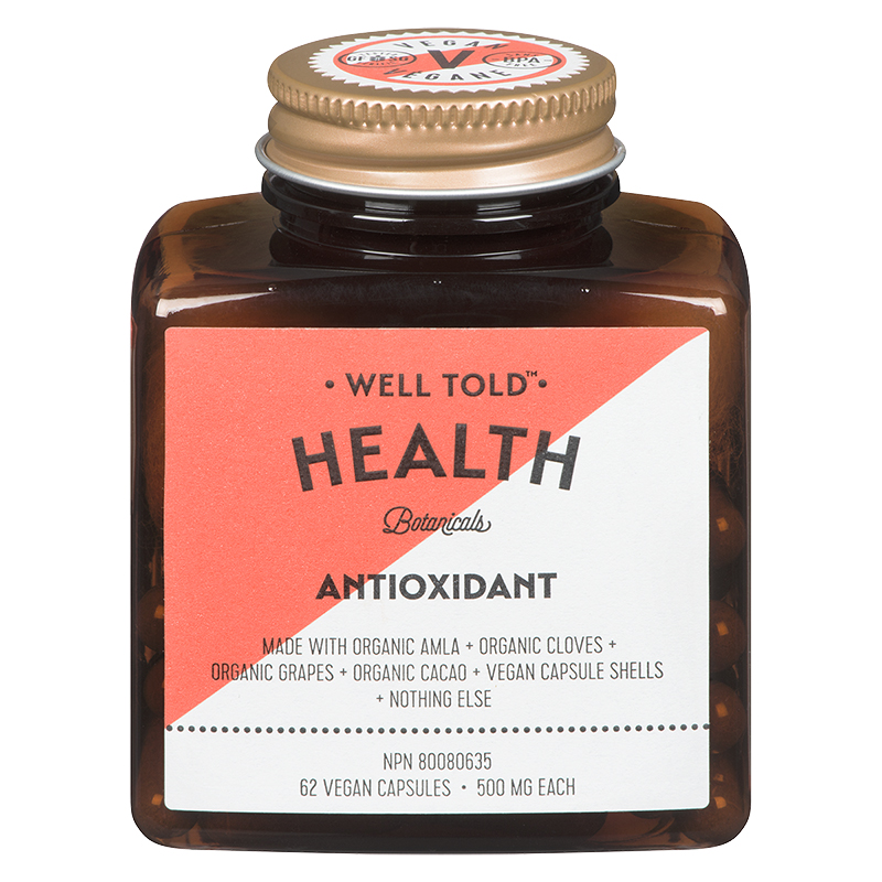Well Told Health Botanicals Antioxidant Supplement - 62's