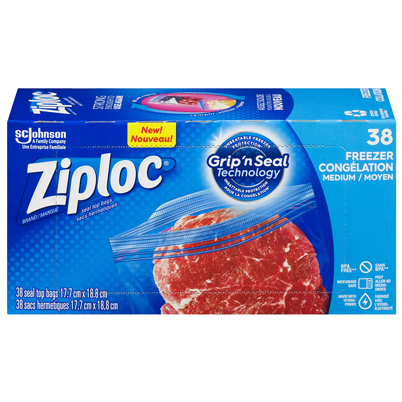 Ziploc Freezer Value Pack - Medium - 38's