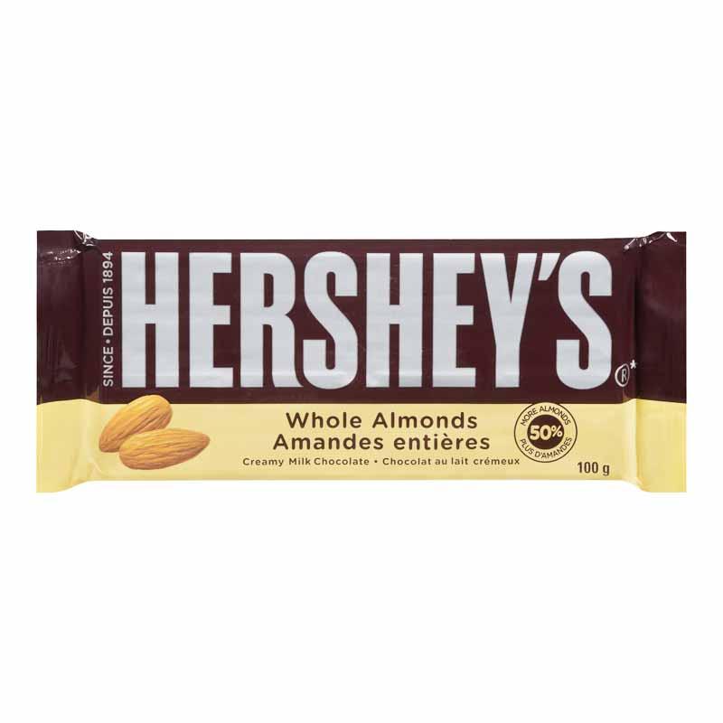 Chocolate Bar - Whole Almonds - 100g