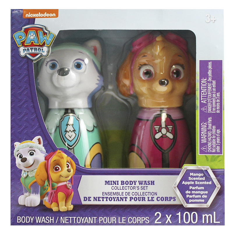 Nickelodeon Paw Patrol Mini Body Wash Collectors Set - Mango/Apple 2 x 100ml