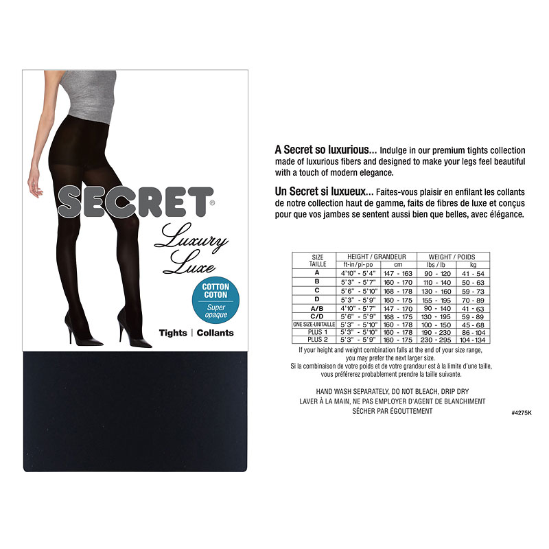 Secret Luxury Cotton Touch Control Tights