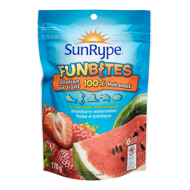 Sun-Rype Funbites - Strawberry / Watermelon - 170g Bag