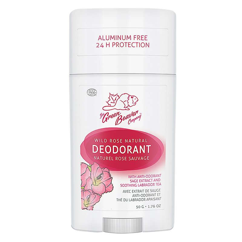 The Green Beaver Company Natural Deodorant - Wild Rose - 50g