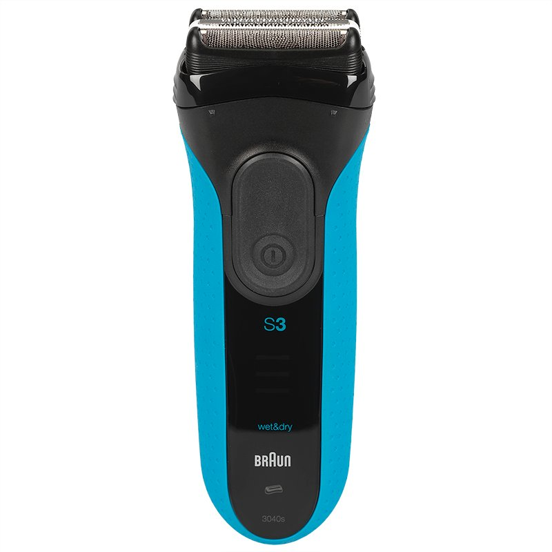 Braun Series 3-3040 Wet/Dry Shaver - Black/Blue - 3040S
