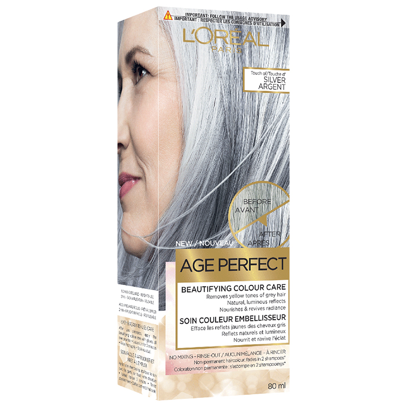 L'Oreal Age Perfect Beautifying Colour Care - Touch Of Silver - 80ml