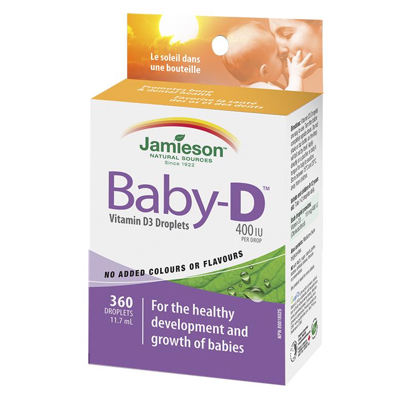 Jamieson Baby-D Vitamin D3 Droplets 400 iu - 11.7ml ...
