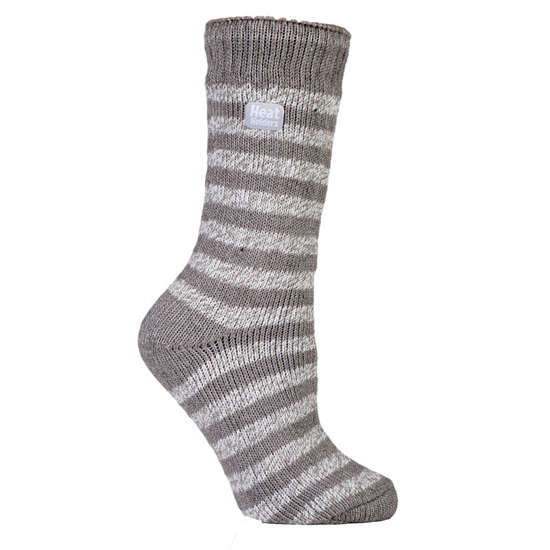 Heat Holders Ladies Twist Crew Sock - Cream/Beige