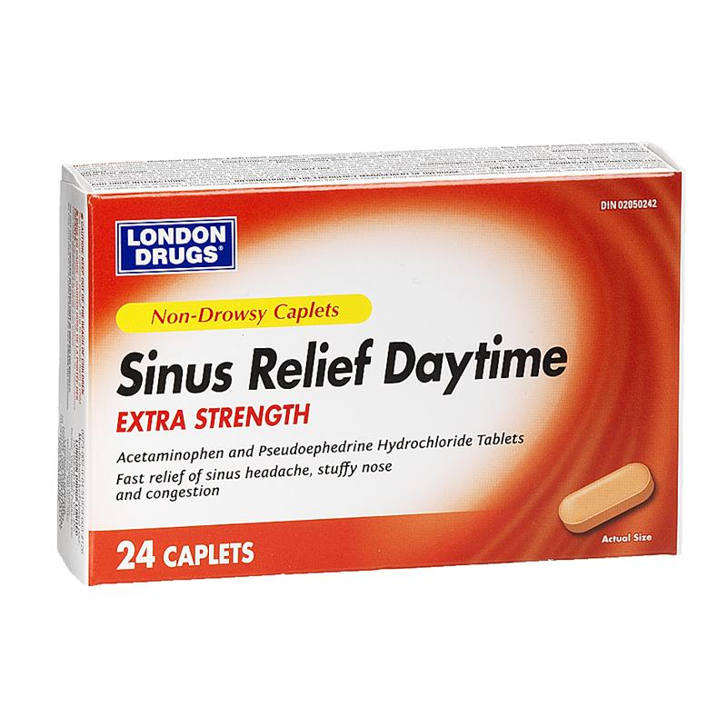 London Drugs Sinus Pain and Nasal Congestion Relief -  Extra-Strength - 24's