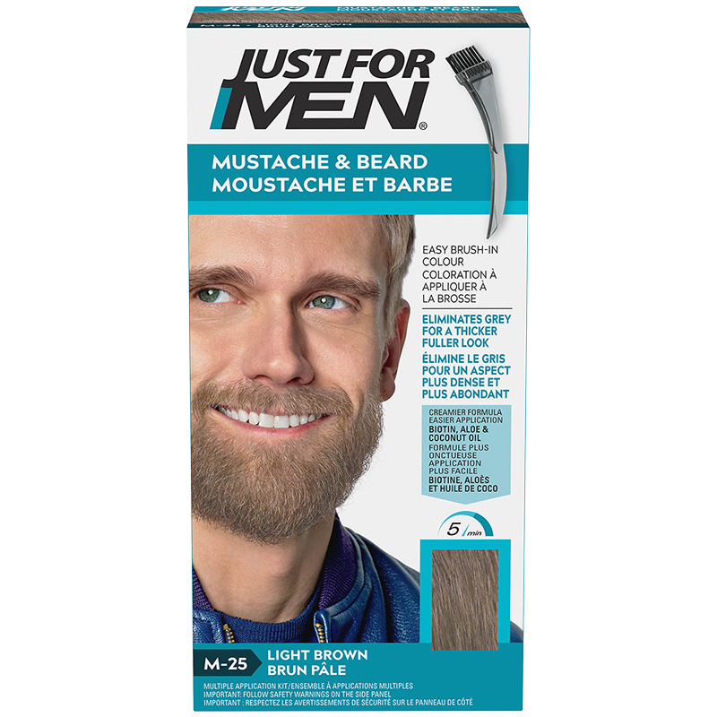 Just for Men Mustache and Beard Facial Hair Colouring - Light Brown