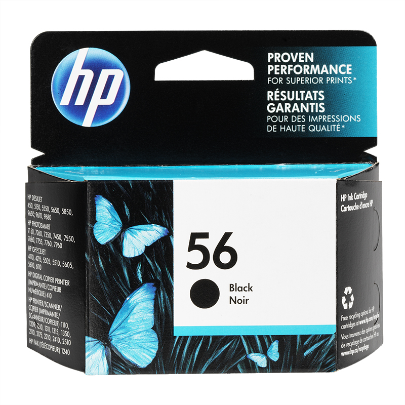 HP 56 PhotoSmart 7150/7350/7550 Ink Cartridge - Black - C6656AN