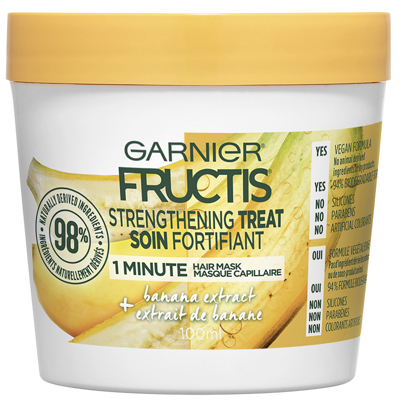 Garnier Fructis Smooth Treat 1 Minute Hair Mask - Banana - 100ml