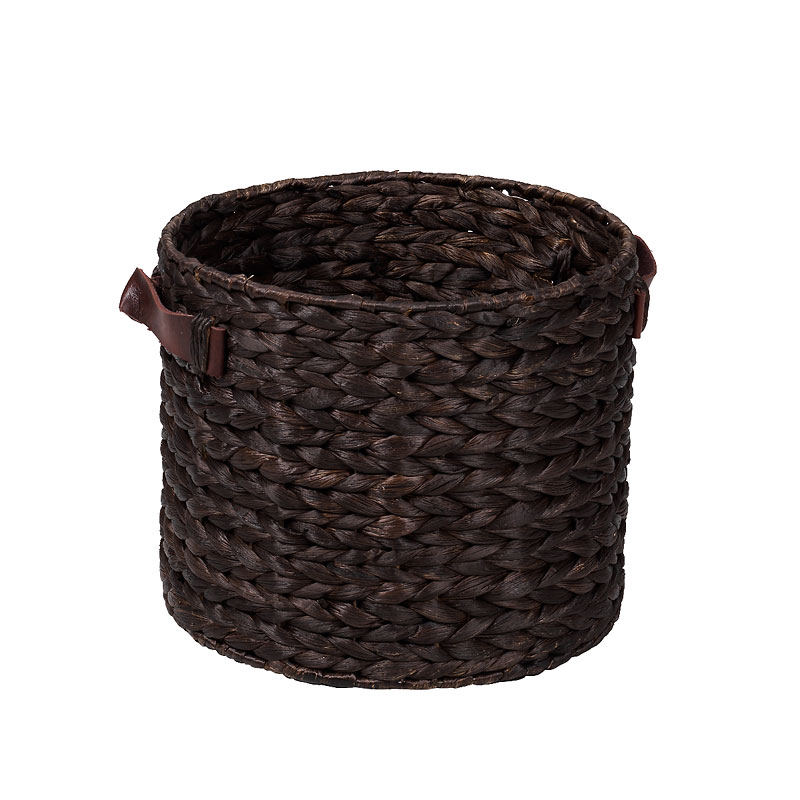London Drugs Water Hyacinth Basket with Faux Leather Handles