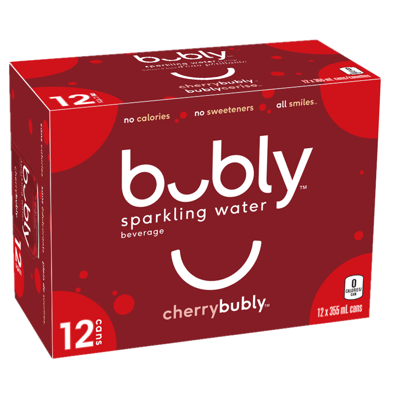 Bubly Sparkling Water - Cherry - 12 x 355ml
