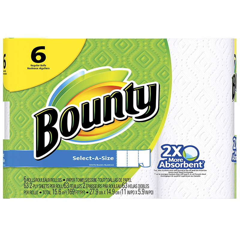 Bounty Paper Towels Select a Size - 6's