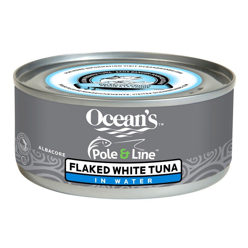 Ocean's Pole & Line Flaked White Tuna in Water - Albacore - 170g