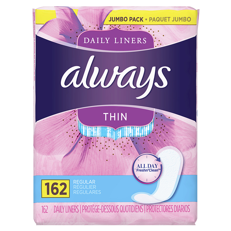 Always Thin Daily Liners - 162's