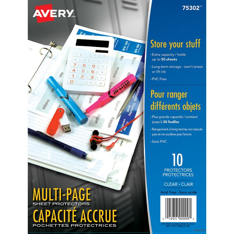 Avery Multi-Page Capacity Sheet Protectors - 10 pack