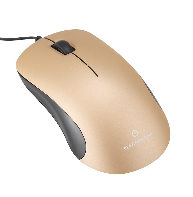 Certified Data M40 Deluxe Mouse - Gold