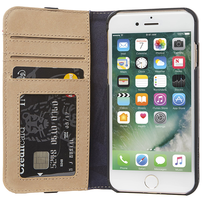 newest cd541 0766d Decoded Leather Wallet Case for iPhone 6/6s/7/8 - Sahara - DCDA6IPO7CW3SA