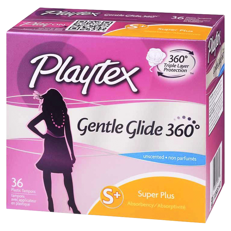 Playtex Gentle Glide - Super Plus - Unscented - 36's