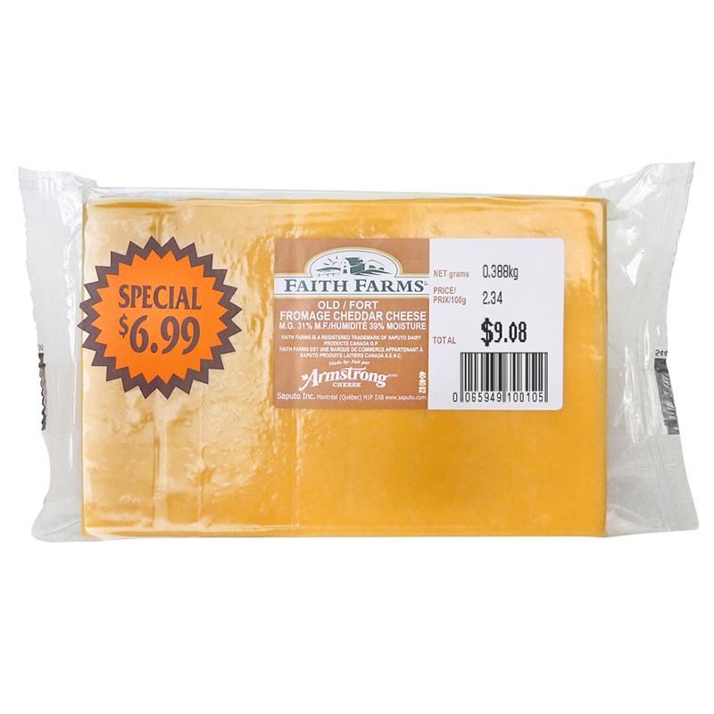 Faith Farms Aged Cheddar - 380g