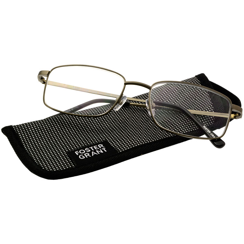 Foster Grant T10 Men's Reading Glasses - Gunmetal - 1.50
