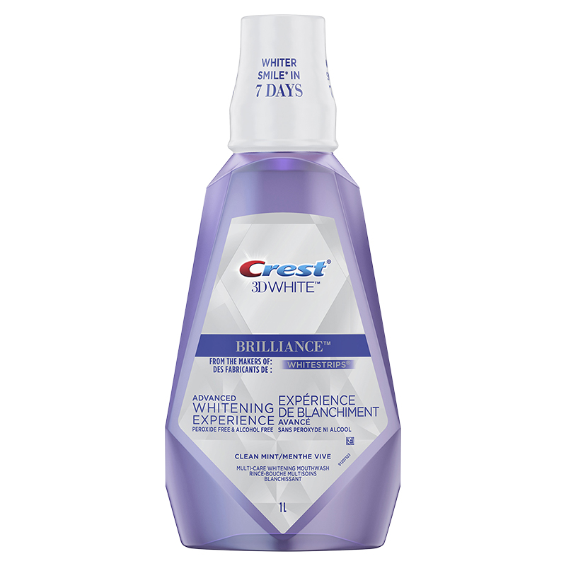 Crest 3D White Brilliance Whitening Mouthwash - Clean Mint - 1L
