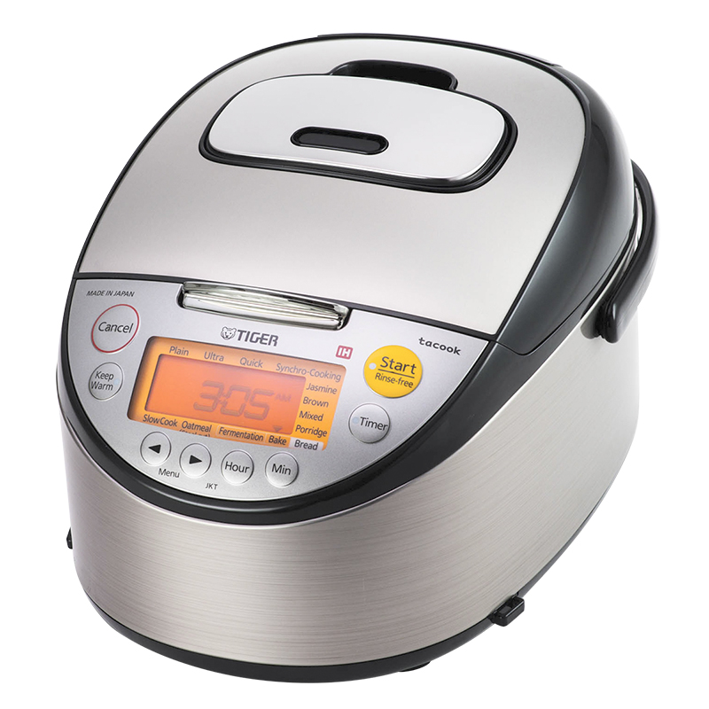 Tiger Rice Cooker - Stainless - 10 Cups - JKT-S18U