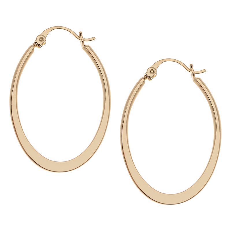 Danori Gold Flat Circle Hoop Earrings - Gold