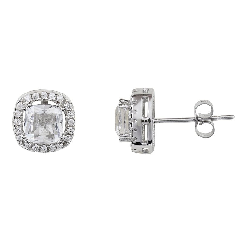 Charisma Stainless Steel Halo Earrings