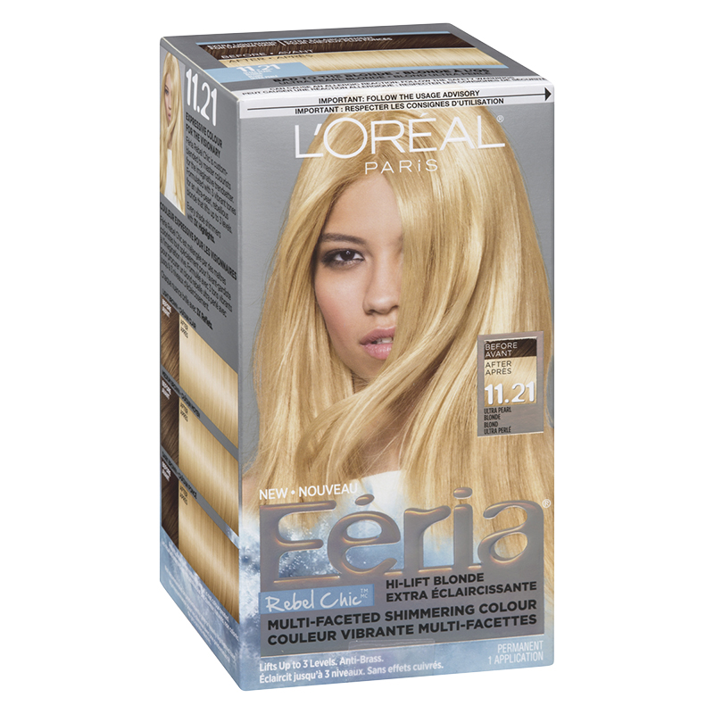 L'Oreal Feria Rebel Chic Permanent Hair Colour - 11.21 Ultra Pearl Blonde