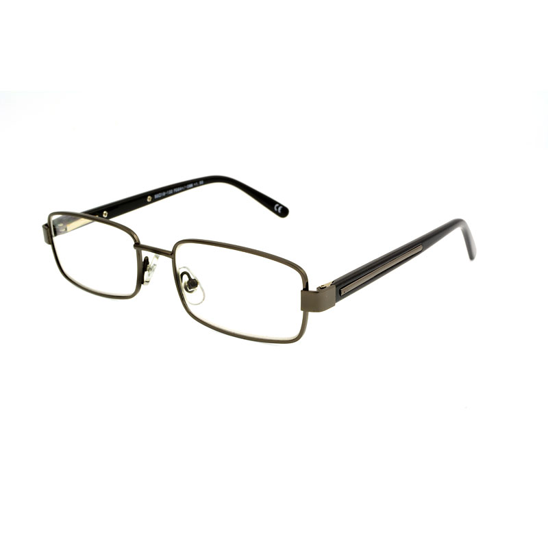 Foster Grant Tommy Reading Glasses with Case - Gunmetal - 3.25