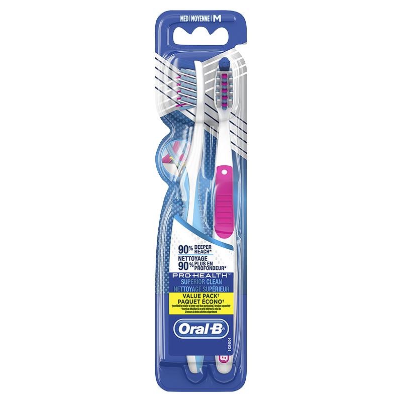 Oral-B 3D PRO Health Value Pack Toothbrush - Medium - 2's