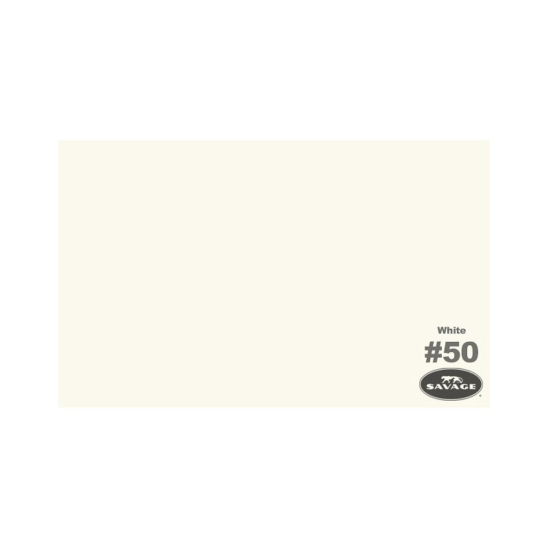 "Savage 53"" Widetone Seamless Background Paper - White - SAS50-1253"
