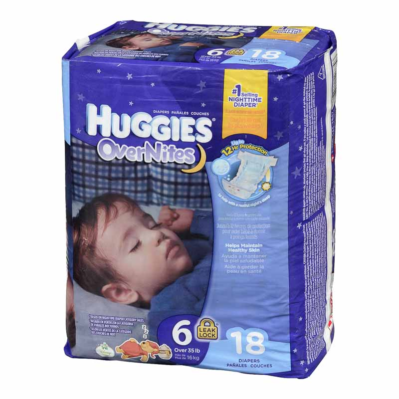 Huggies Overnites Disposable Diaper - Size 6 - 18's