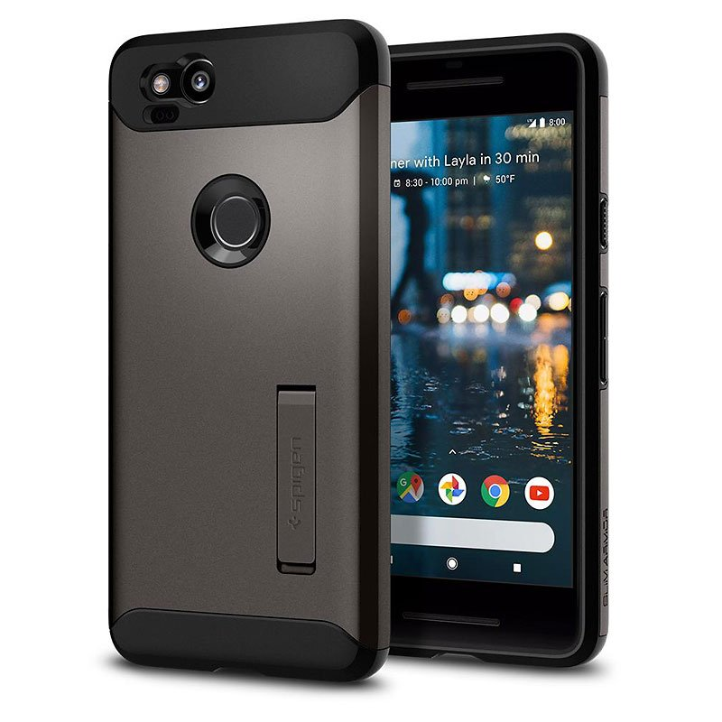 Spigen Slim Armor Case for Google Pixel 2 - Gunmetal - SGPF16CS22251