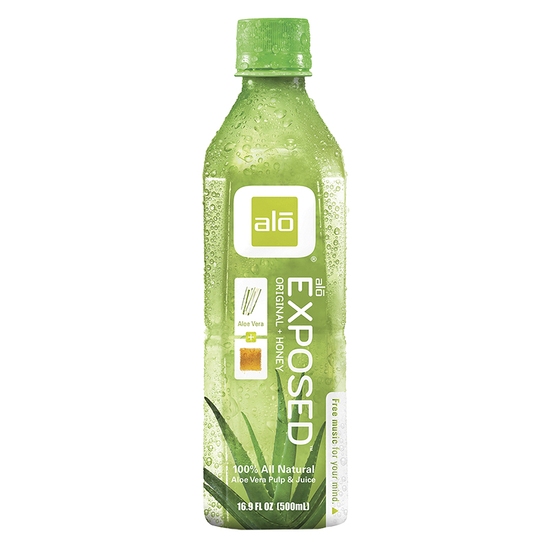Alo Exposed Aloe Vera Pulp and Juice - Original plus Honey - 500ml