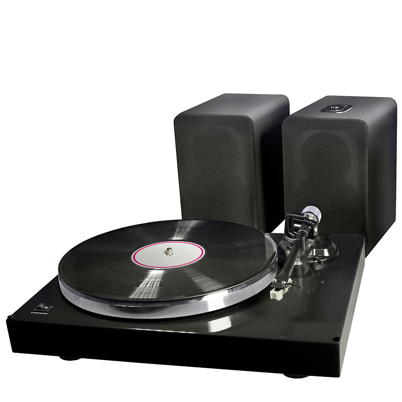 UltraLink Turntable System with Powered Speakers - Black - ULPMC1