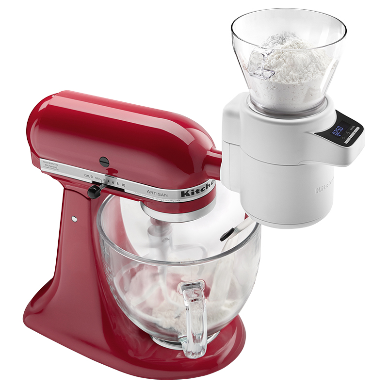 KitchenAid Sifter & Scale Attachment - White - KSMSFTA