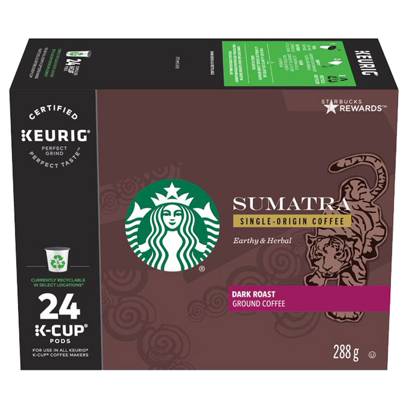 Starbucks K-Cup Coffee - Sumatra Dark Roast - 24's