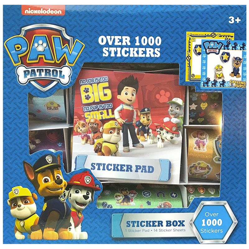 Paw Patrol Sticker Box - Assorted