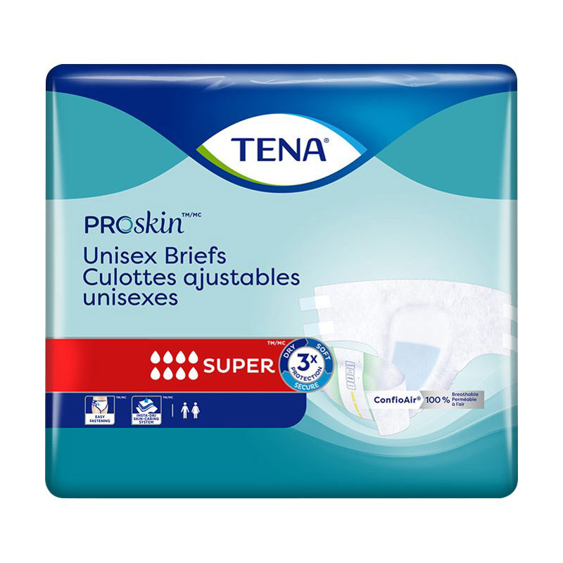 Tena Unisex Briefs - Super - Large - 14's