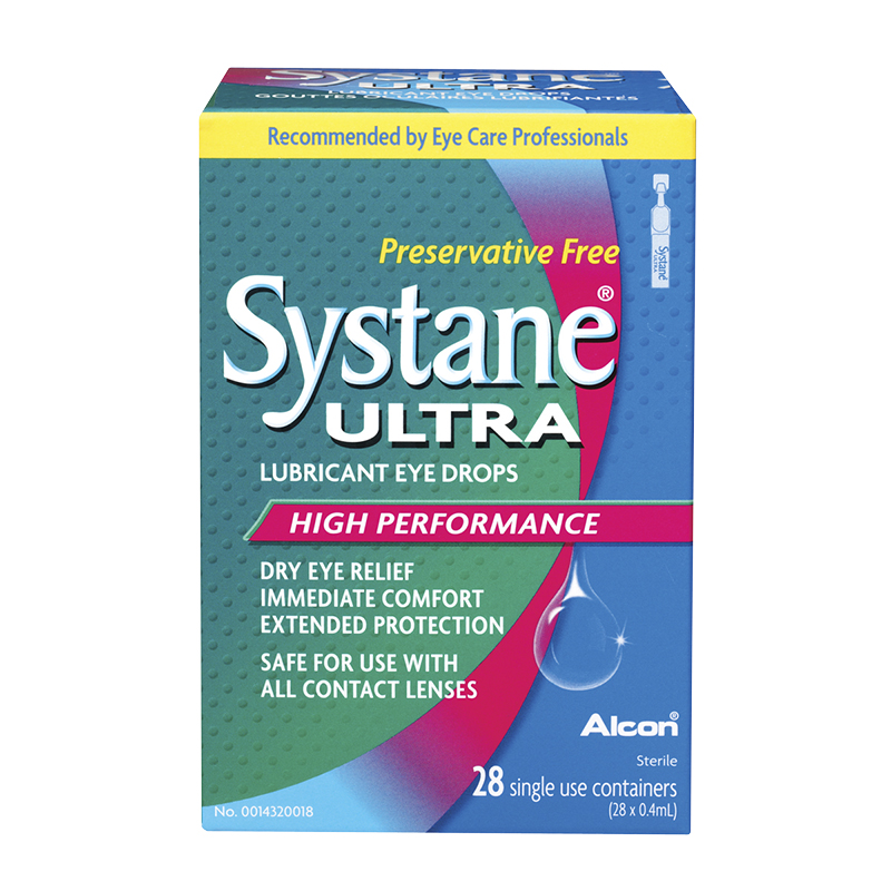 Systane Ultra Preservative Free Lubricant Eye Drops - 28 Vials  x 0.4ml Each