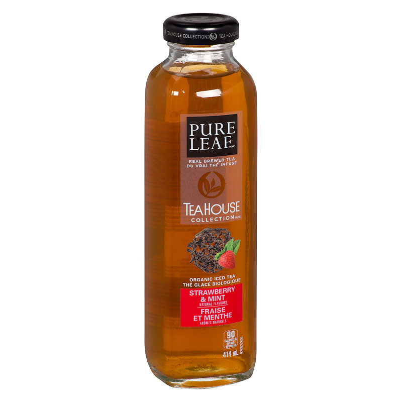 Pure Leaf Tea House Organic Iced Tea - Strawberry & Mint - 414ml