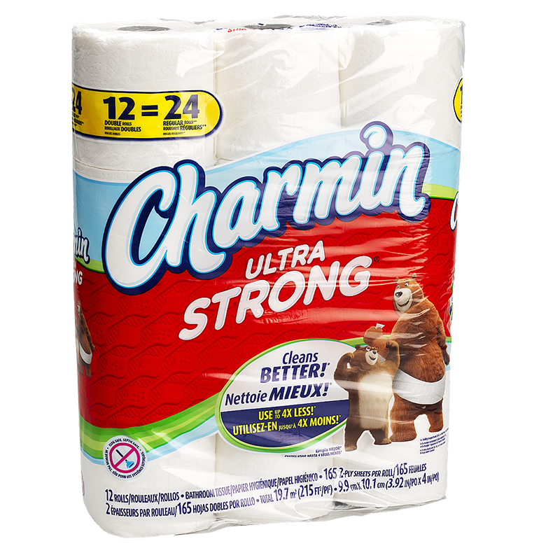 Charmin Bathroom Tissue Ultra Strong Double Rolls - 12's