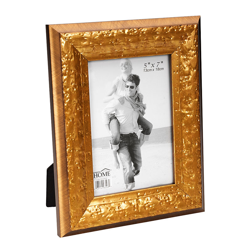 London Home Picture Frame - Distressed Gold - 5x7in